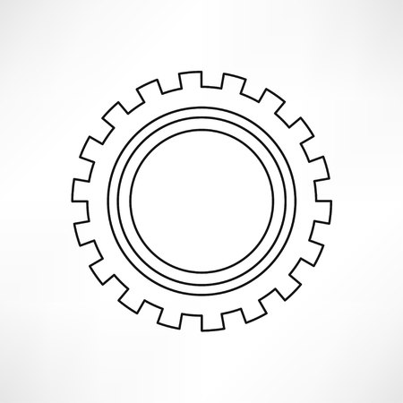 gearshift: gears isolated object , technical, mechanical illustration