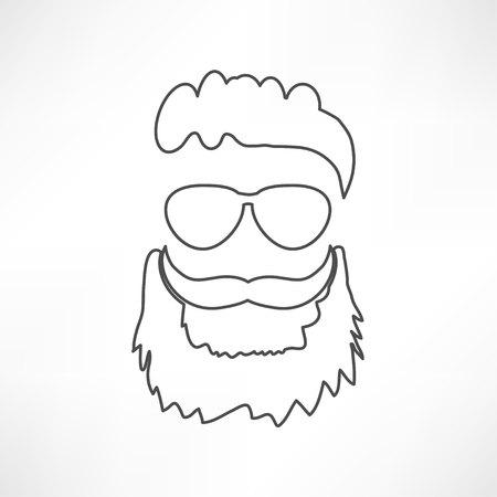 beard icon Illustration
