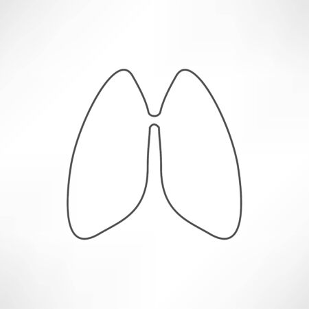 pulmones: Lungs - vector illustration