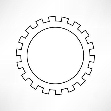 ingranaggi isolato oggetto, tecnica, illustrazione meccanica