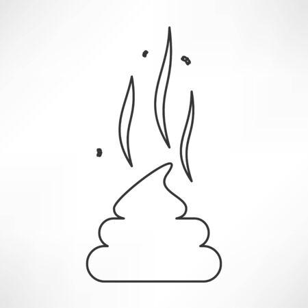 worst: Poo icon Illustration