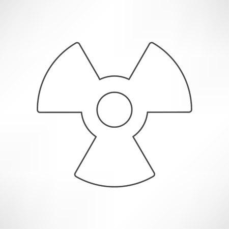 radium: Vector radiation symbol