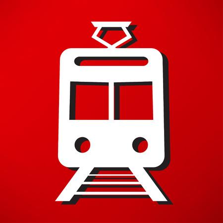 intercity: Train outline vector