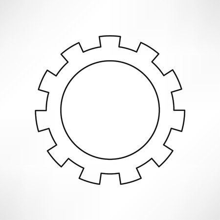 gear wheel: gears isolated object , technical, mechanical illustration