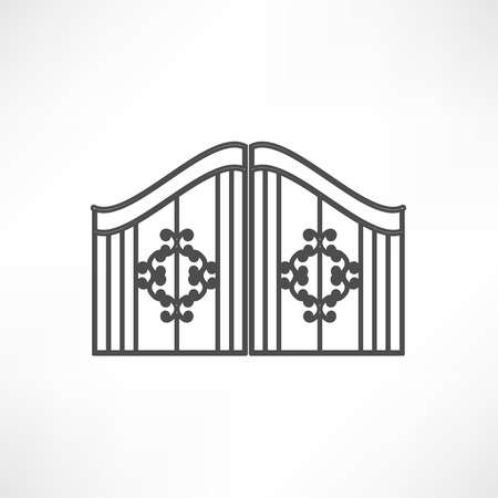 beautifully: gate icon Illustration