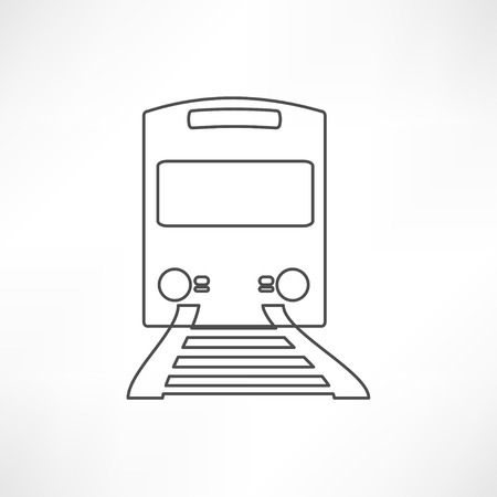 intercity: Train outline vector