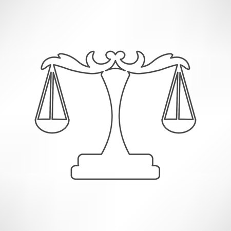 magistrate: scales icon Illustration