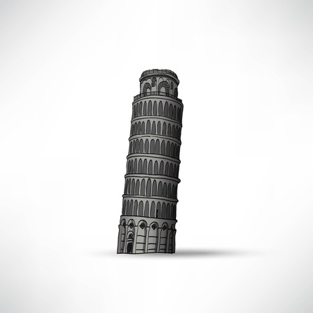leaning tower of pisa: Hand sketch leaning tower of Pisa