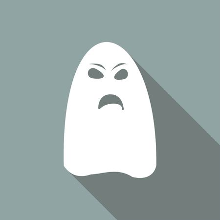 unfriendly: ghost icon on long shadow