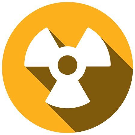 uranium: Radiation Flat style Icon with long shadows