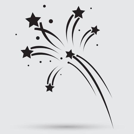 fuegos artificiales: Fuegos artificiales cohetes firman icono. Explosivo símbolo dispositivo pirotécnico