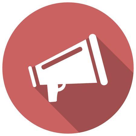 megafono: Icono del megáfono con una larga sombra