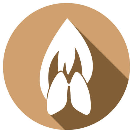 icon buttons: Icon Lungs with a long shadow