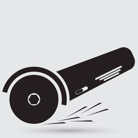 angle grinder: Simple icon angle grinder