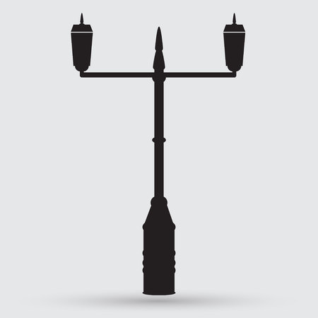lamp post: Lamp Post Street icon Illustration