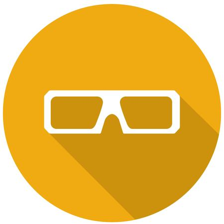 stereoscope: 3d glasses icons with a long shadow Illustration