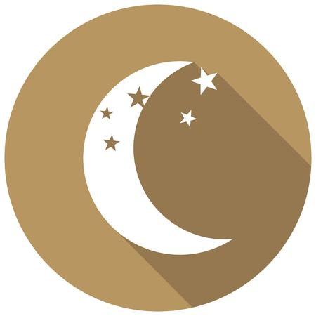 moonbeam: moon icon with a long shadow