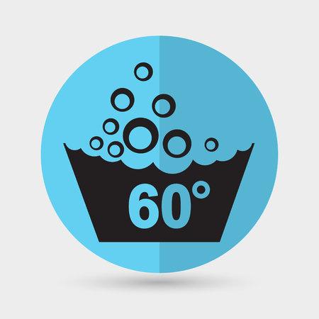 handwash: Conjunto de s�mbolos de lavado icono