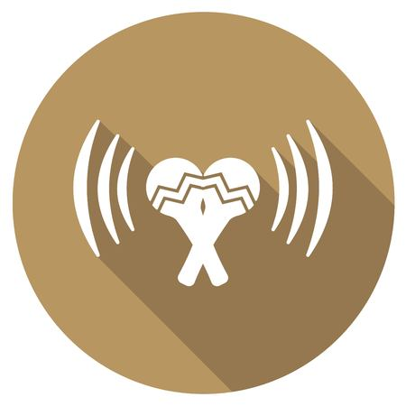 beanbag: Maracas flat icon with long shadow