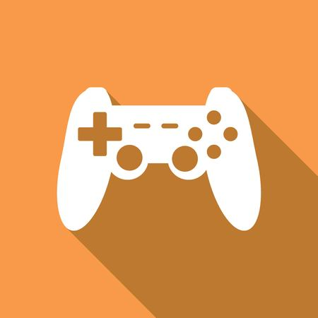 joypad: game joypad icon with a long shadow Illustration