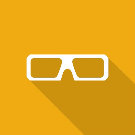 anaglyph: 3d glasses icons with a long shadow Illustration
