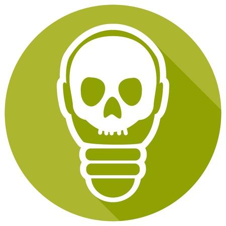 scriibble: Icon Light bulb on long shadow