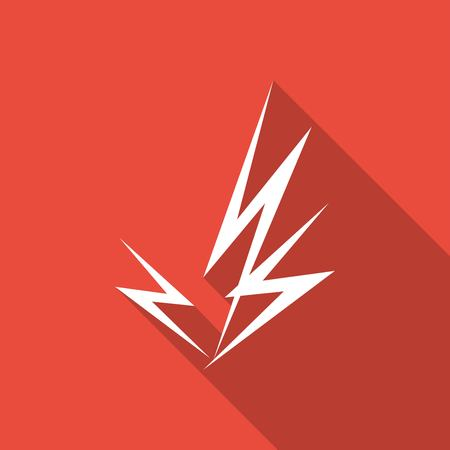 lightning arrow: Icon Lightning arrow with a long shadow Illustration