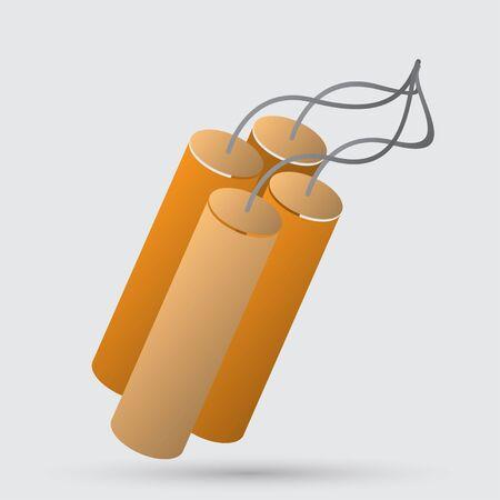 detonate: TNT dynamite bomb with burning fuse