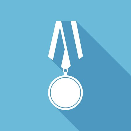 conquering: Flat medal icon with long shadow Illustration