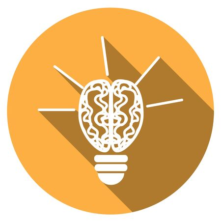 scriibble: Icon Light bulb with a long shadow Illustration