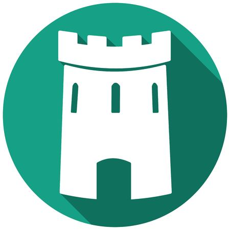 loophole: Medieval castle tower vector icon