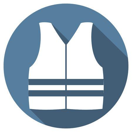 ship wreck: life vest Illustration