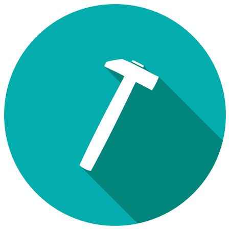 impact tool: hammer icon with long shadow