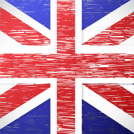 britain: vector grunge styled flag of great britain Illustration
