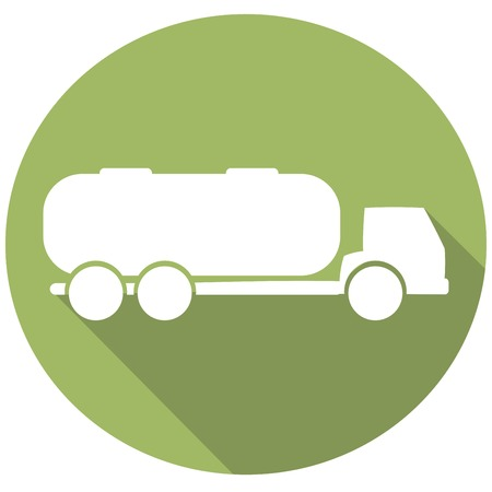 Tank truck with long shadow Illustration