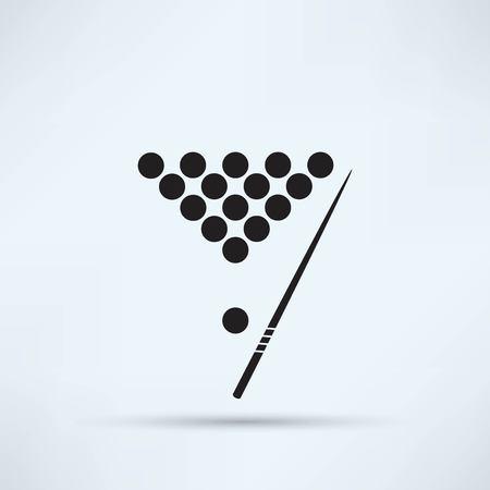 snooker rooms: The billiard icon. Game symbol