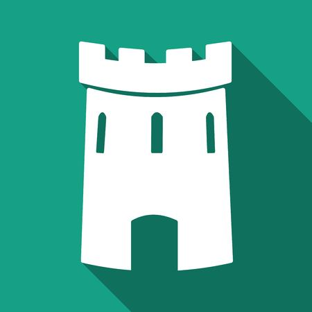 castle tower: Medieval castle tower vector icon