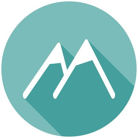 slope: Mountain icon with a long shadow