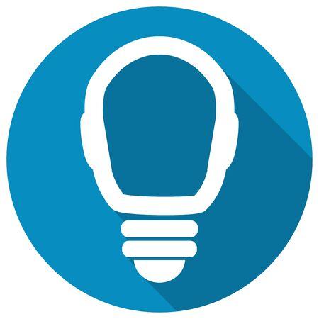 Icon Light bulb on long shadow