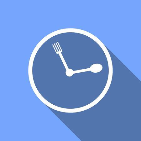 awake: clock with a long shadow Illustration