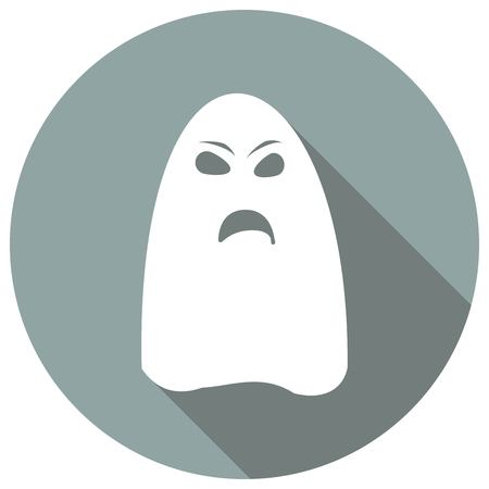ghost icon on long shadow