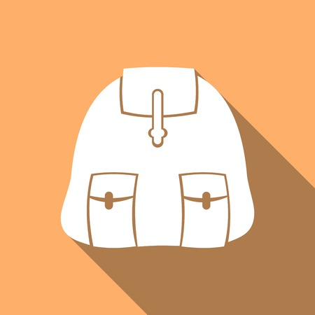 tripping: backpack icon  with a long shadow