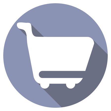 retailers: wheelbarrow with a long shadow