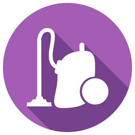 electric broom: vacuum cleaner with long shadow Illustration