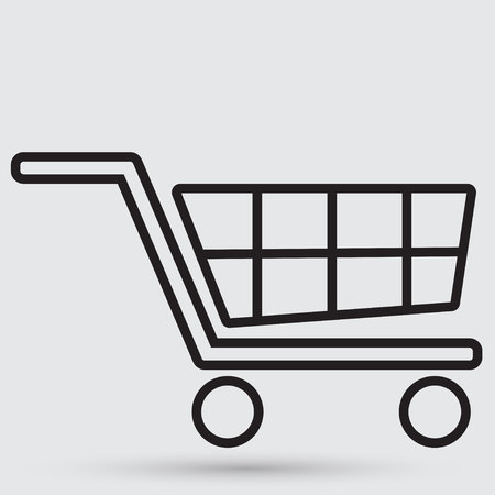 handcart: handcart icon Illustration