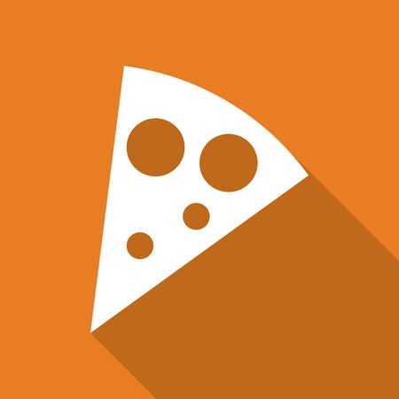 flavorful: pizza slice a long shadow