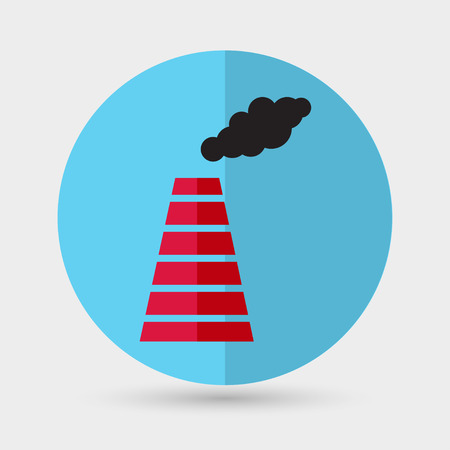 pipework: Smoke emission from factory pipes icon Illustration