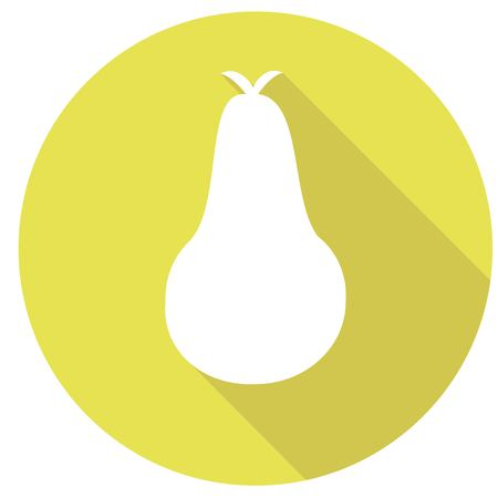 arbre: pear icon with a long shadow Illustration