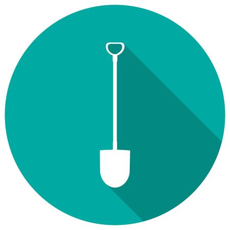 horticultural: Icon Garden tools on long shadow Illustration