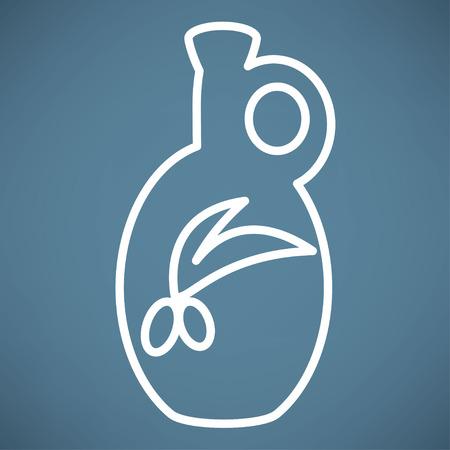 oil bottle: olive oil bottle icon
